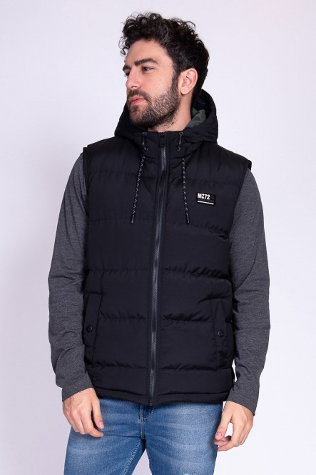 Hooded vest down jacket...