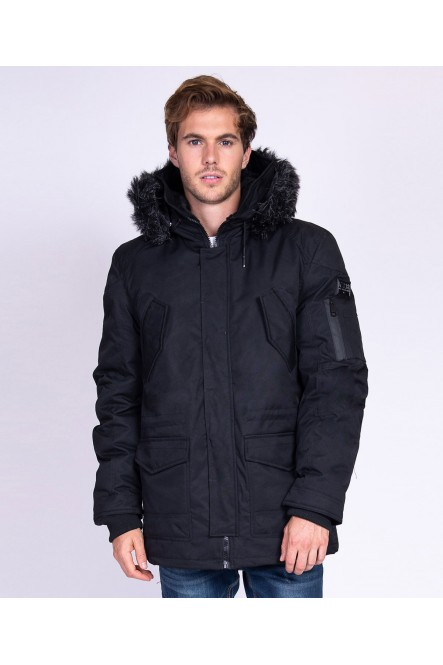 Hooded parka LUCKY Black