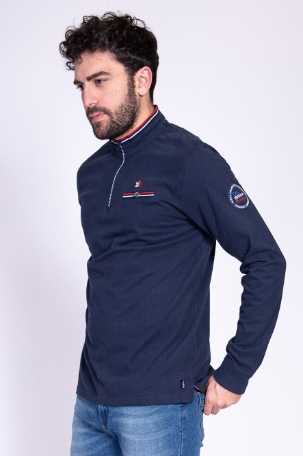 Long sleeves polo PRIMERA Navy