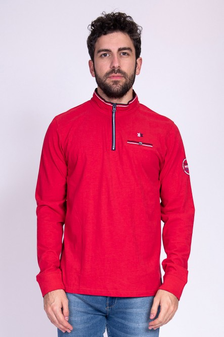Long sleeves polo PRIMERA Red