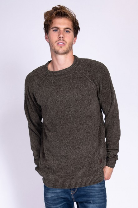 Pull col rond fil chenille...
