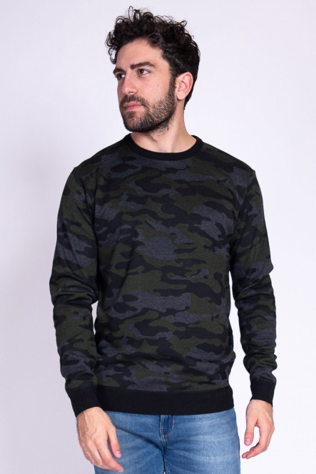 All over camouflage sweater...