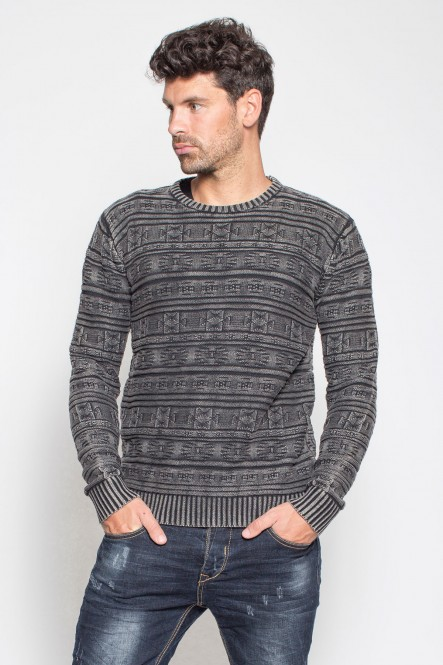 Stowe wash sweater SWAG Black