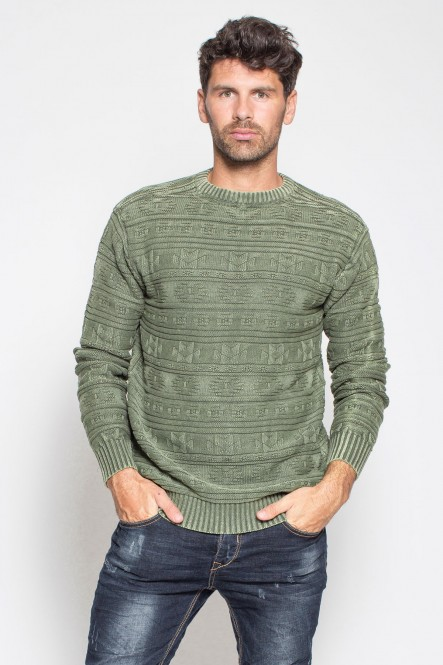 Pull col rond stone wash...