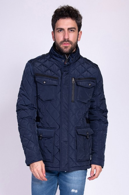 Padded coat LESTER Navy