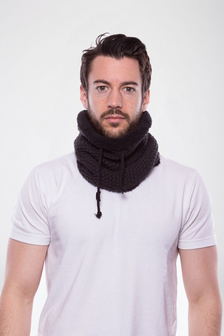 Knit collar AC-WARM Dark...