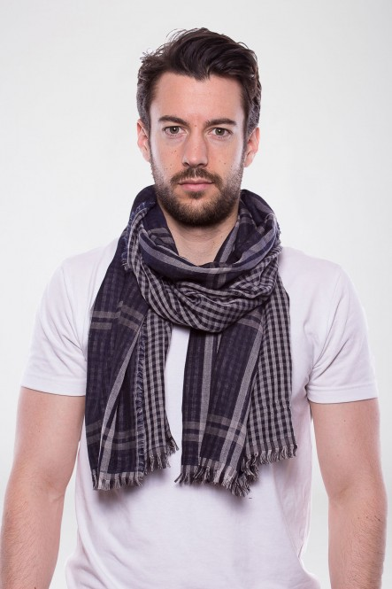 Scarf SC-CHECKS Navy