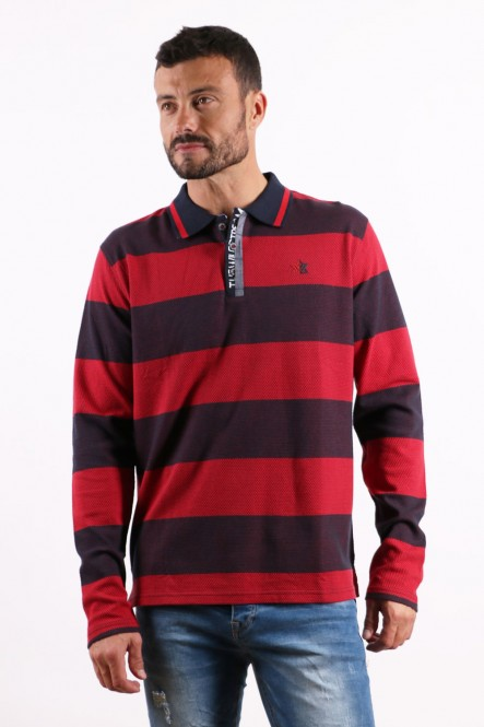 Long sleeves polo PRADO Red