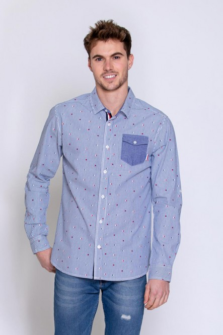 Long sleeves shirt DREGOR Blue