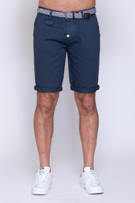 Bermuda with belt FAVOR FRESH Navy