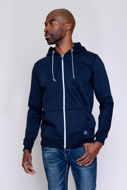 Zipped sweat, hooded JUST Navy