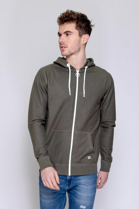 Zipped sweat , hooded JUNA Lichen