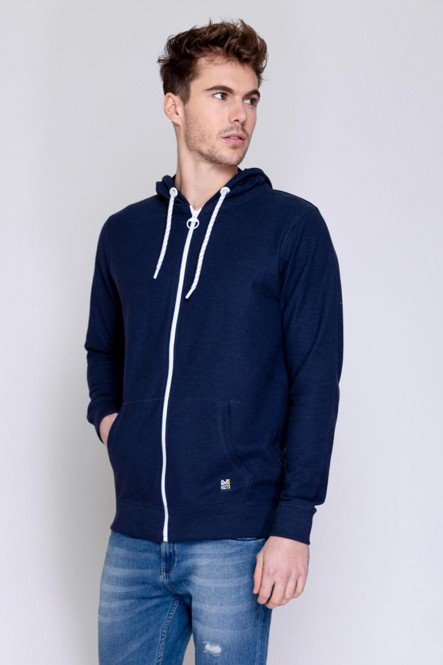 Zipped sweat , hooded JUNA Navy