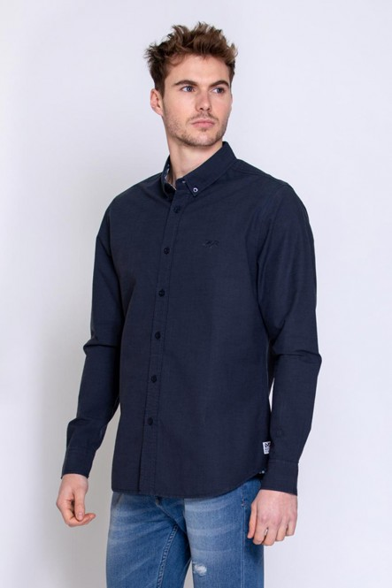 Chemise manches longues DALLOW Marine clair