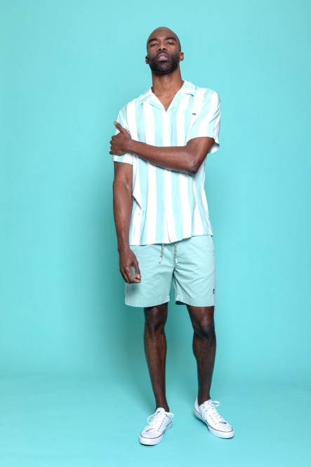 Short sleeves shirt CHEW Harbor green