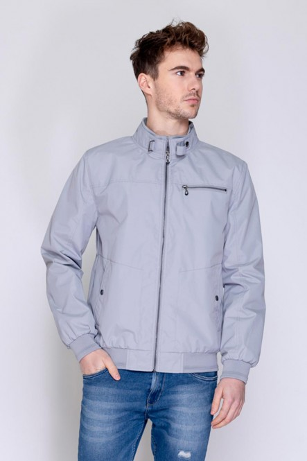 High collar jacket BESMART Light grey