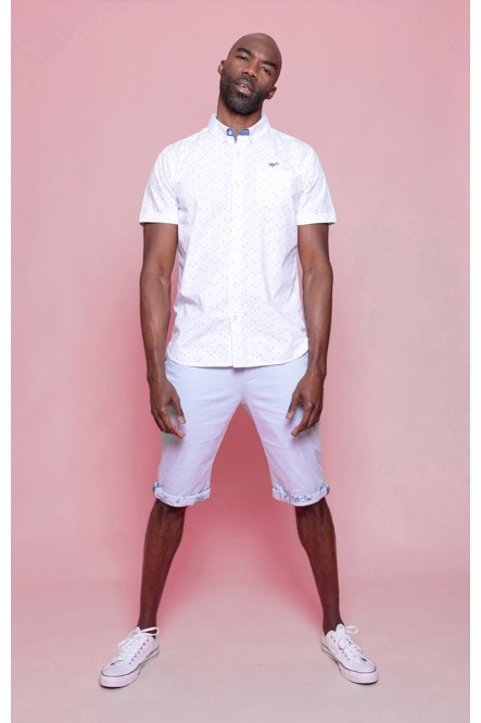 Short sleeves shirt CHACKER Optical white