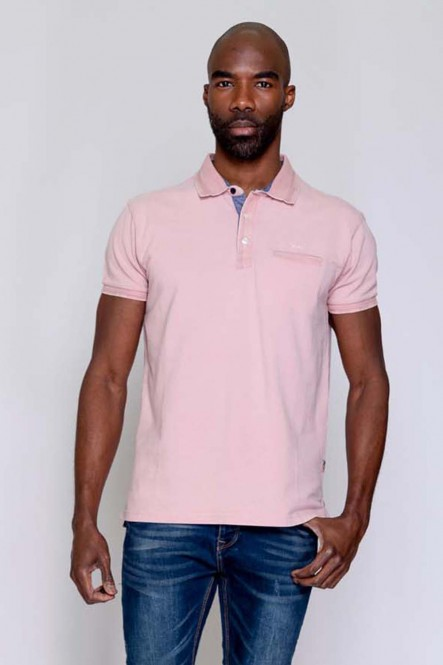 Short sleeves polo PREFER Silver pink