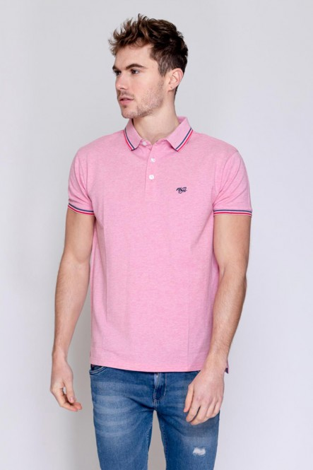Short sleeves polo PIXEL Pink