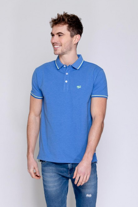 Short sleeves polo PIXEL Blue