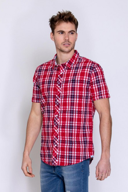 Short sleeves shirt CHEMA Red