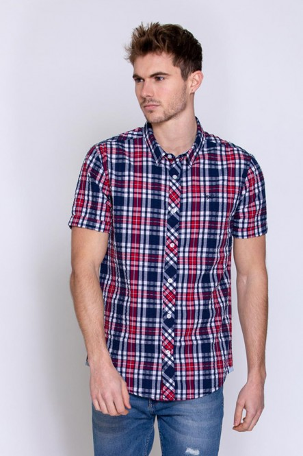 Short sleeves shirt CHEMA Navy