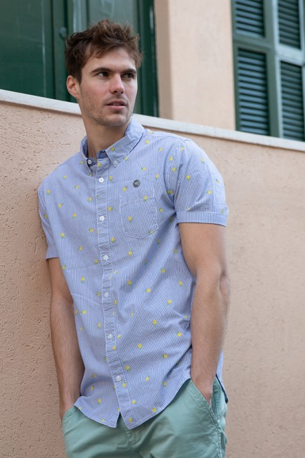 Short sleeves shirt CHAPPLE Blue