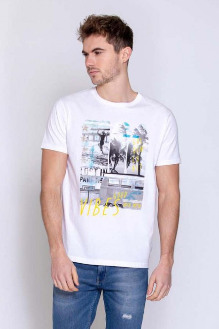 Printed t-shirt THENEON White