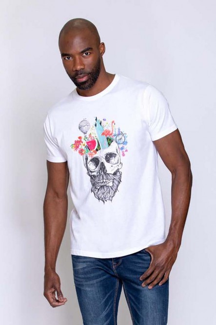 Printed t-shirt THEDUDE White