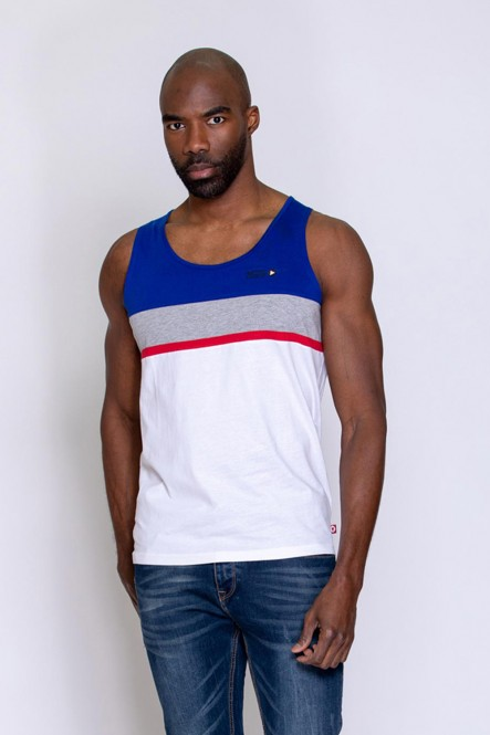 Color block tank top UBIC...