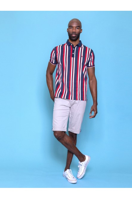 James striped look