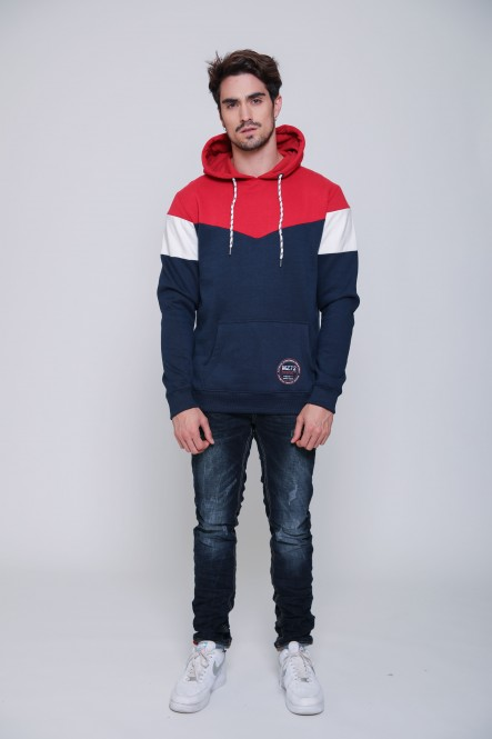 Sweat JUSTY Red-Navy