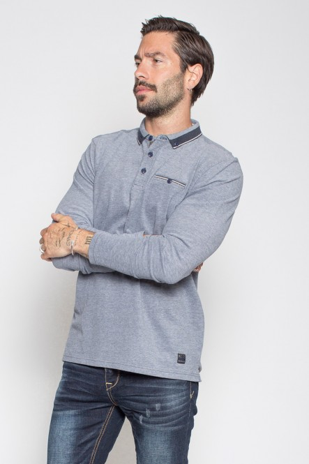 Long sleeves bicolore pique...