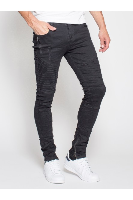 Stretch denim biker pants...