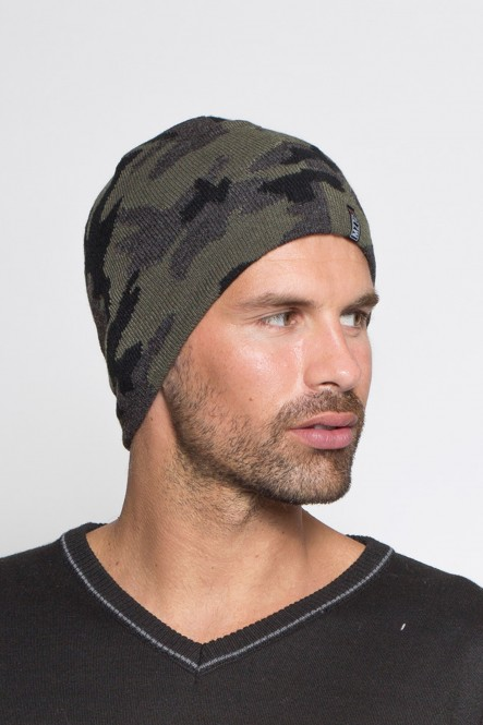 Camouflage knit beanie...