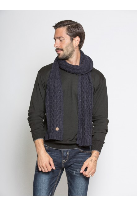 Cable knit scarf AC-DARK...