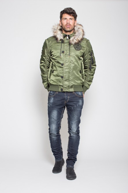 Padded hooded jacket...