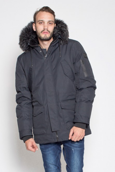 Hooded parka LUCKY Navy