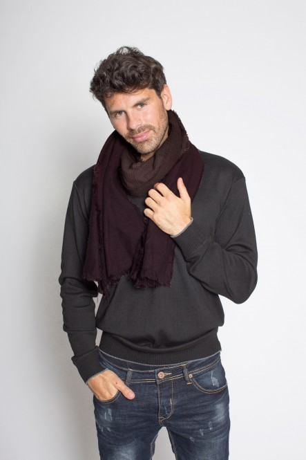 Foulard SC-SHADED Lie de vin