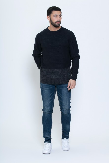 Pull col rond color block...