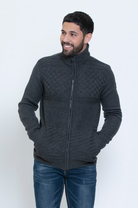 Fancy knit zipper sweater...
