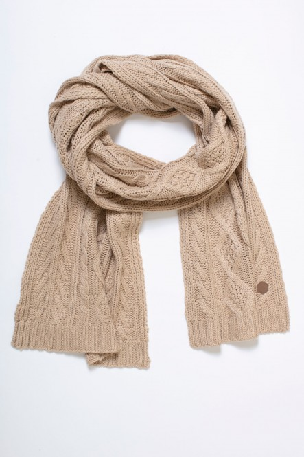 Cable knit scarf AC-DARK Stone