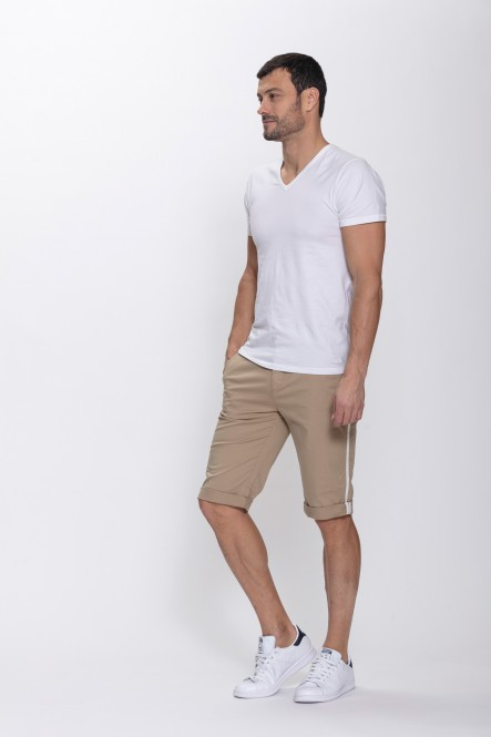 Stretch chino bermuda with...