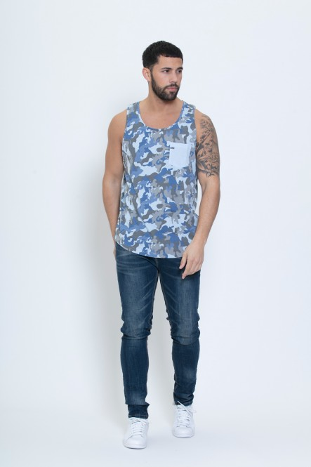 Camouflage tank top UMAN denim