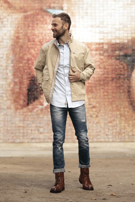 Blouson city BEHAVE Beige...
