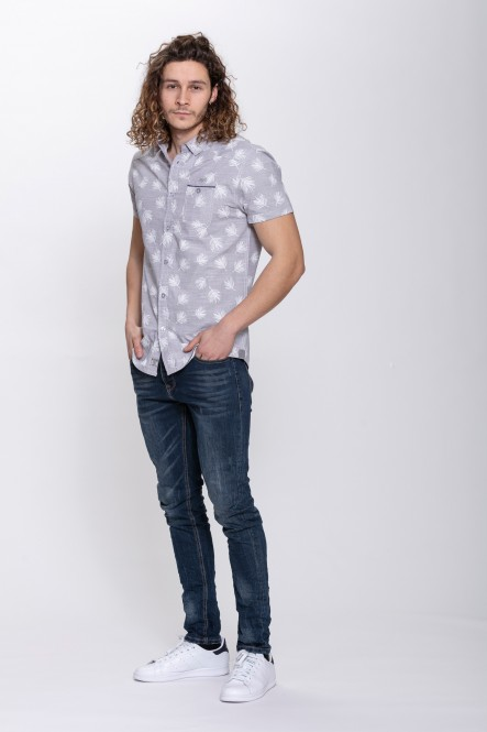 Printed short-sleeve shirt...