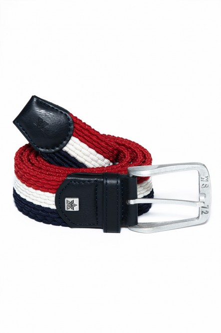 Tricolor braided belt...