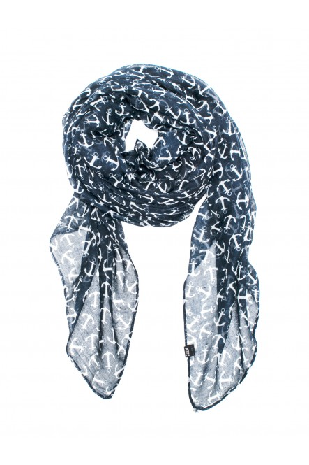 Light scarf printed anchors...