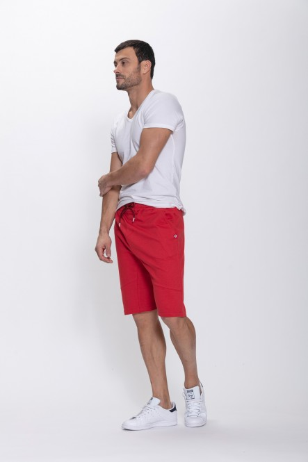 Fleece shorts VALE Chili red