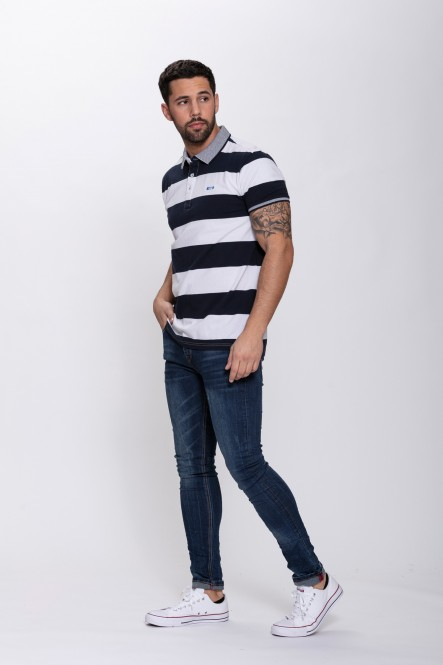 Striped polo PAJA Navy